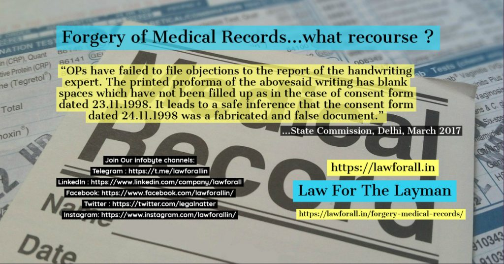 Forgery of Medical Records