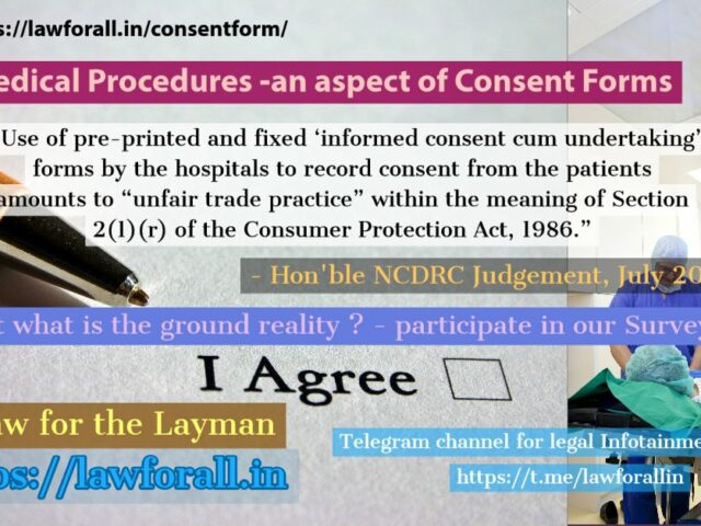Consent Forms for Medical Procedures in India
