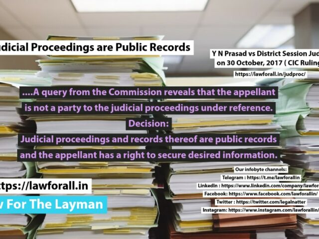 Judicial Proceedings are Public Records