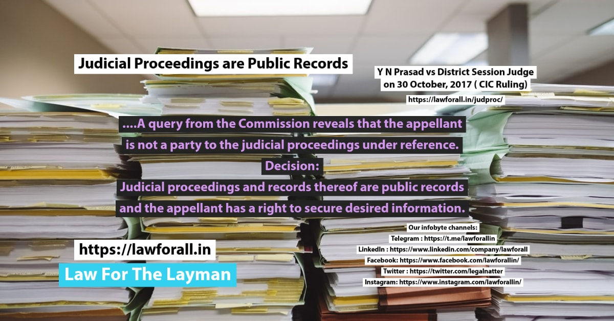 Judicial Proceedings are Public Records